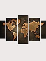 Недорогие -С картинкой Отпечатки на холсте - Карты Урожай Theme Modern