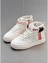 Недорогие -Девочки Обувь Полотно Наступила зима Удобная обувь Кеды для Для подростков Белый / Черный / Розовый