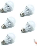 Недорогие -5 шт. 5 W 400 lm E26 / E27 Умная LED лампа 10 Светодиодные бусины SMD 2835 Smart / Активация звуком / Декоративная Белый 180-240 V