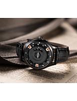 Недорогие -Муж. Наручные часы Кварцевый Черный Повседневные часы Цифровой Мода - Черный / Нержавеющая сталь