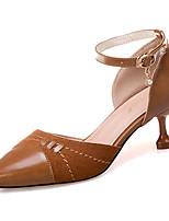 Недорогие -Жен. Полиуретан Весна На каждый день Обувь на каблуках На каблуке-рюмочке Стразы Бежевый / Розовый / Хаки