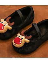 Недорогие -Девочки Обувь Замша Весна & осень Удобная обувь На плокой подошве для Дети Черный / Красный