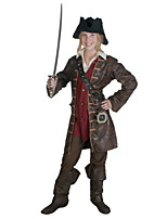 Недорогие -Пираты Карибского моря Пираты Викинг Инвентарь Косплей из фильмов Кофейный Пальто Рубашка Брюки Хэллоуин Карнавал Маскарад Кожа Полиэстер