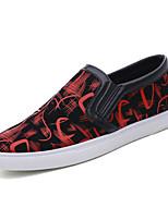 Недорогие -Муж. Комфортная обувь Полиуретан Весна Мокасины и Свитер Белый / Красный / Синий