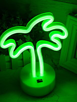 Недорогие -1шт Кокосовая пальма LED Night Light Тёплый белый Cool <5 V