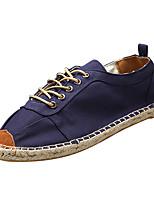 Недорогие -Муж. Комфортная обувь Полиуретан Весна Кеды Синий / Хаки