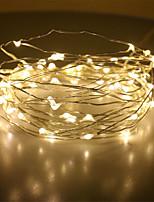 Недорогие -5 метров Гирлянды 50 светодиоды Мощный светодиод Тёплый белый Для вечеринок / Декоративная / Свадьба 12 V 1шт