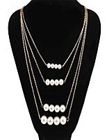Недорогие -Жен. Слоистые ожерелья Золотой 60 cm Ожерелье Бижутерия 1шт Назначение Повседневные