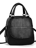 Недорогие -Жен. Мешки Искусственная кожа рюкзак Молнии Сплошной цвет Черный / Желтый / Винный