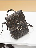 Недорогие -Жен. Мешки PU Мобильный телефон сумка Молнии Темно-коричневый