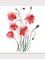 Недорогие -С картинкой Отпечатки на холсте - Натюрморт Цветочные мотивы / ботанический Modern