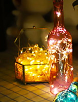 Недорогие -2м Гирлянды 40 светодиоды Розовый Декоративная Аккумуляторы 1 комплект