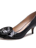 Недорогие -Жен. Лакированная кожа Весна На каждый день / Минимализм Обувь на каблуках На шпильке Заостренный носок Пряжки Черный / Розовый / Миндальный