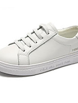 Недорогие -Девочки Обувь Кожа Весна & осень Удобная обувь Кеды для Для подростков Белый / Черный / Желтый