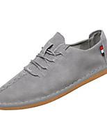 Недорогие -Муж. Комфортная обувь Свиная кожа / Полиуретан Весна На каждый день Кеды Нескользкий Черный / Бежевый / Серый