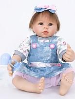 Недорогие -FeelWind Куклы реборн Мальчики 22 дюймовый Силикон Винил - как живой Ручная Pабота Очаровательный Безопасно для детей Дети / подростки Non Toxic Детские Универсальные Игрушки Подарок