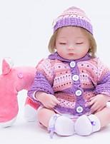 Недорогие -FeelWind Куклы реборн Кукла для девочек Девочки 18 дюймовый Силикон Винил - как живой Ручная Pабота Очаровательный Дети / подростки Нетоксично Детские Универсальные Игрушки Подарок