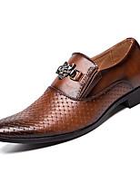Недорогие -Муж. Комфортная обувь Полиуретан Весна На каждый день Мокасины и Свитер Нескользкий Черный / Коричневый