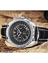 Недорогие -Муж. Наручные часы Кварцевый Черный Повседневные часы Аналого-цифровые Мода - Белый Черный / Нержавеющая сталь