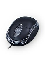 Недорогие -Factory OEM Проводной USB Бесшумная мышь 3 pcs ключи Светодиодный свет 2 Регулируемые уровни DPI 1000 dpi