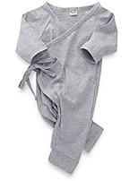 Недорогие -малыш Девочки Уличный стиль Повседневные Однотонный Длинный рукав Полиэстер 1 предмет Белый