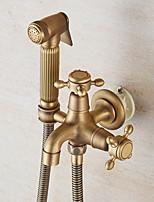 Недорогие -Биде кран Отполированная медьToilet Ручной спрей для биде Самоочищение Античный