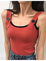 Недорогие -узкая женская футболка азиатского размера - однотонный ремешок