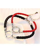 Недорогие -Жен. Плетение Loom браслет - Простой, Мода Браслеты Бижутерия Черный / Красный Назначение Свидание