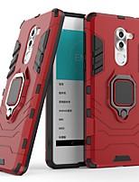Недорогие -Кейс для Назначение Huawei Enjoy 6X Защита от удара / Кольца-держатели Кейс на заднюю панель Однотонный / броня Твердый ПК для Honor 6X