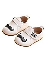 Недорогие -Девочки Обувь Полотно Весна & осень Удобная обувь / Обувь для малышей Мокасины и Свитер для Дети Черный / Бежевый