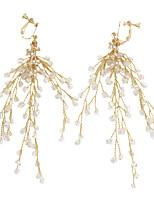 Недорогие -Жен. Плетение Клипсы - Стиль Бижутерия Золотой Назначение Свадьба Для вечеринок фестиваль 1 пара