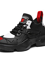 Недорогие -Муж. Комфортная обувь Эластичная ткань Весна Кеды Белый / Черный / Черный / Красный