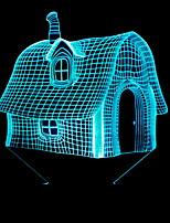 Недорогие -1шт LED Night Light Аккумуляторы AA Новый дизайн / Меняет цвета 5 V