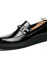 Недорогие -Муж. Комфортная обувь Полиуретан Зима Мокасины и Свитер Черный / Красный