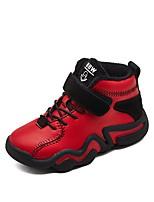 Недорогие -Мальчики Обувь Микроволокно Зима Удобная обувь Спортивная обувь Беговая обувь для Для подростков Черный / Красный