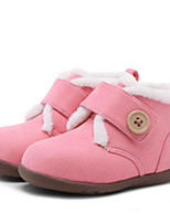 Недорогие -Девочки Обувь Замша Зима Удобная обувь / Зимние сапоги Ботинки для Дети (1-4 лет) Красный / Розовый / Хаки