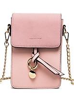 Недорогие -Жен. Мешки PU Мобильный телефон сумка Бант(ы) Черный / Розовый / Пурпурный