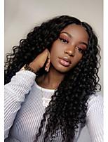 Недорогие -человеческие волосы Remy Полностью ленточные Лента спереди Парик Бразильские волосы Афро Квинки Крупные кудри Парик Ассиметричная стрижка 130% 150% 180% Плотность волос Модный дизайн Мягкость Sexy