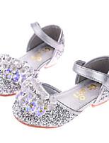 Недорогие -Девочки Обувь Полиуретан Лето Детская праздничная обувь Сандалии Стразы для Дети Серебряный / Синий / Розовый