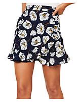 Недорогие -женские юбки миди-лайн - геометрический / цветочный принт
