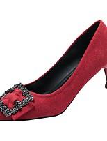 Недорогие -Жен. Полиуретан Весна Обувь на каблуках На шпильке Заостренный носок Красный / Синий / Розовый