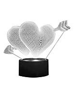 Недорогие -Brelong день святого валентина 3d свет иллюзия ночник я люблю твое сердце 7 изменение цвета декоративная настольная лампа спальня