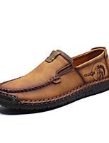 Недорогие -Муж. Обувь для вождения Полиуретан Весна Классика / На каждый день Мокасины и Свитер Для прогулок Дышащий Черный / Коричневый / Хаки / Для вечеринки / ужина