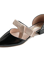 Недорогие -Жен. Полиуретан Весна На каждый день Обувь на каблуках На низком каблуке Бант Черный / Бежевый