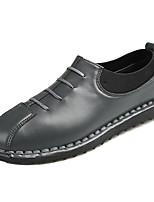 Недорогие -Муж. Комфортная обувь Полиуретан Весна На каждый день Мокасины и Свитер Дышащий Белый / Черный / Серый