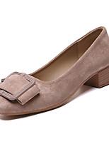 Недорогие -Жен. Полиуретан Весна На каждый день Обувь на каблуках На толстом каблуке Бант Черный / Хаки