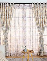 Недорогие -Шторы портьеры Спальня Мультипликация 100% Полиэфир Активный краситель
