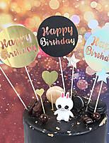 Недорогие -Украшения для торта Классика / Праздник / Новорожденный Художественные / Ретро / Уникальный дизайн Чистая бумага Для вечеринок / День рождения с Планка 1 pcs Пенополиуретан