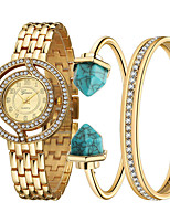Недорогие -Geneva Жен. Часы-браслет Наручные часы Кварцевый Нержавеющая сталь Золотистый Очаровательный Повседневные часы Аналоговый Кольцеобразный Мода - Золотой