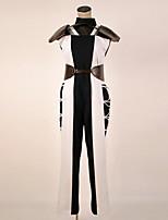 Недорогие -Вдохновлен Косплей Косплей Аниме Косплэй костюмы Косплей Костюмы Черный и белый Кофты / Брюки / Перчатки Назначение Муж. / Жен.